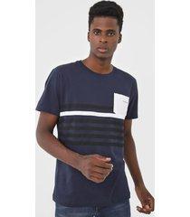 camiseta yachtsman listrada azul-marinho