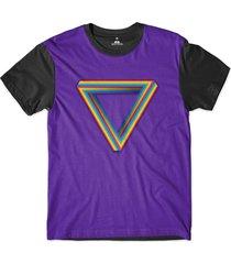 camiseta skill head orgulho lgbt símbolo sublimada roxo - tricae