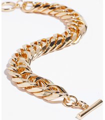 womens don't wrist the truth chunky chain bracelet - gold