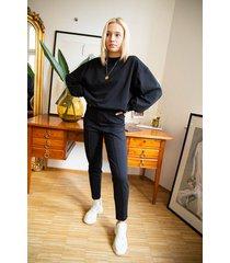 bawełniane spodnie casual black