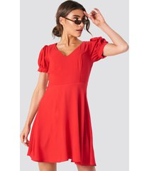 trendyol v neck mini dress - red