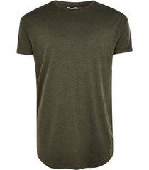 mens black khaki premium longline t-shirt