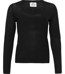 delicate jersey tabitha t-shirts & tops long-sleeved zwart mads nørgaard