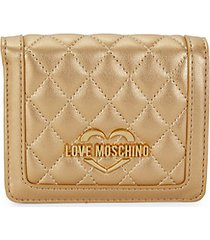 quilted faux leather bi-fold wallet