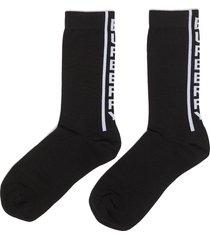logo stripe intarsia socks