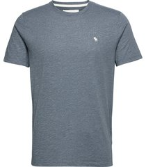 icon crew stormy weather t-shirts short-sleeved blå abercrombie & fitch