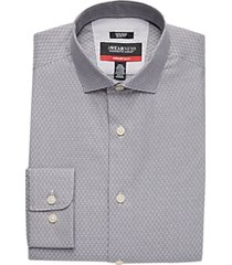awearness kenneth cole charcoal awear-tech diamond slim fit dress shirt