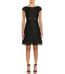 women's marchesa beaded lace cocktail dress
