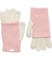 steve madden layered-look tech gloves