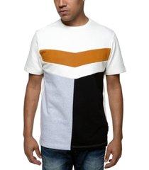 sean john men's chevron colorblocked t-shirt