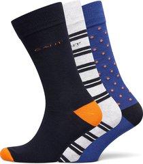 d2. 3-pack mix socks gift box underwear socks regular socks multi/mönstrad gant