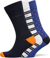 d2. 3-pack mix socks gift box underwear socks regular socks multi/mönstrad gant