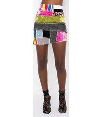 akira chaotic beauty rhinestone detail mini skirt
