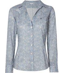 camisa dudalina manga longa estampada liberty feminina (estampado, 50)