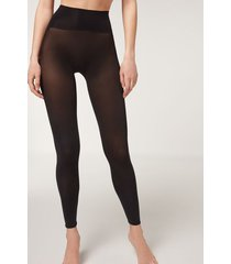 calzedonia totally invisible 50 denier leggings woman black size 3/4