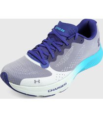 tenis running blanco-morado-azul under armour ua charged pulse