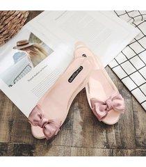 bowknot jelly sandalias planas moda de verano slingback señoras sandalias