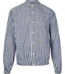 3.1 phillip lim poplin shirt jacket - blue