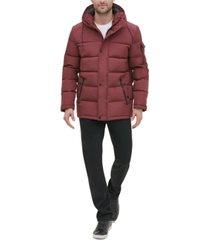 kenneth cole new york men's crinkle nylon hooded puffer jacket