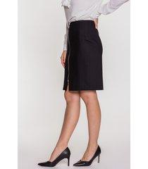 czarna spódnica z ozdobnym suwakiem madeo