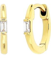women's bony levy varda diamond baguette 11mm huggie hoop earrings (nordstrom exclusive)