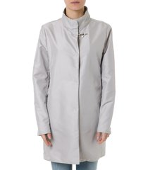 fay covered coat in technical ice fabric
