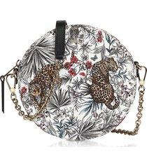 furla designer handbags, jungle print swing mini round crossbody bag