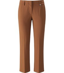 7/8-broek model dora cropped met riemlussen van raffaello rossi bruin