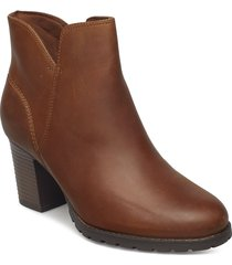 verona trish shoes boots ankle boots ankle boot - heel brun clarks