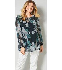 blouse sara lindholm blauw::wit