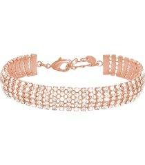 bracciale rosato e strass multifilo per donna