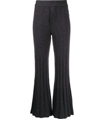 each x other ribbed knit trousers - grey