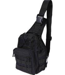 mochila militar hombro al aire libre - negro