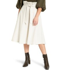plus size women's eloquii belted skirt, size 22w - white