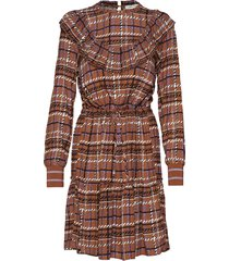 dress jurk knielengte bruin sofie schnoor