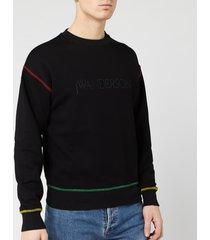 jw anderson men's logo embroidery sweatshirt - black - m