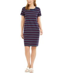 karen scott cotton striped dress, created for macy's