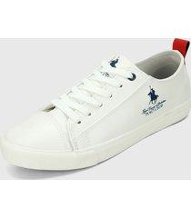 tenis blanco-azul navy royal county of berkshire polo club