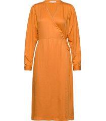 rosanna midi dress knälång klänning orange soft rebels