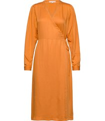 rosanna midi dress dresses wrap dresses orange soft rebels