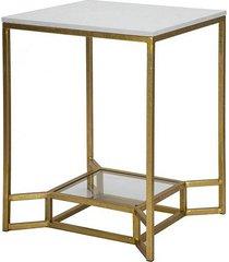 stolik kawowy 2 szt. złoty marble