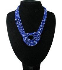 collar artesanal azul sasmon cl-12326