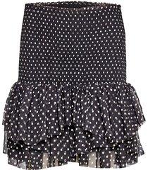 trunte skirt kort kjol svart designers, remix