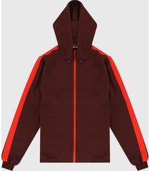 chaqueta vinotinto-rojo lacoste