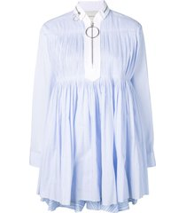 cédric charlier babydoll short dress - blue