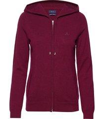 superfine lambswool zip hoodie hoodie trui rood gant