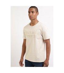 "camiseta masculina that's not my problem"" manga curta gola careca bege"""