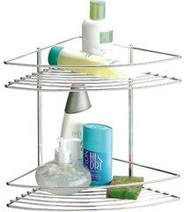 suporte para shampoo de canto 26x24cm cromado