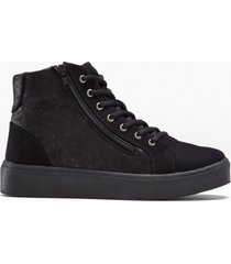 sneaker alte con plateau (nero) - bpc selection