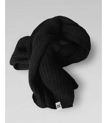 bufanda negra rever pass lisa punto ingles